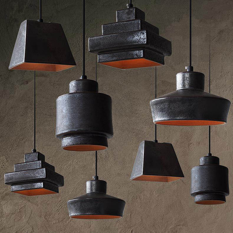 Lustre Black Ceramic Pendant Light