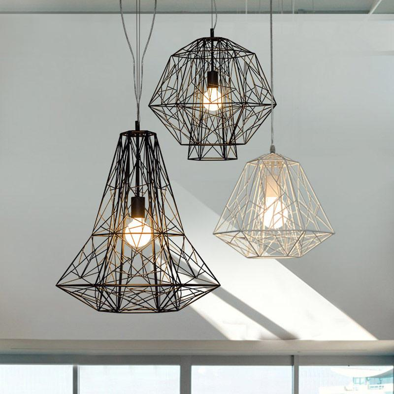 Geometric Cage Minimalist Pendant Light