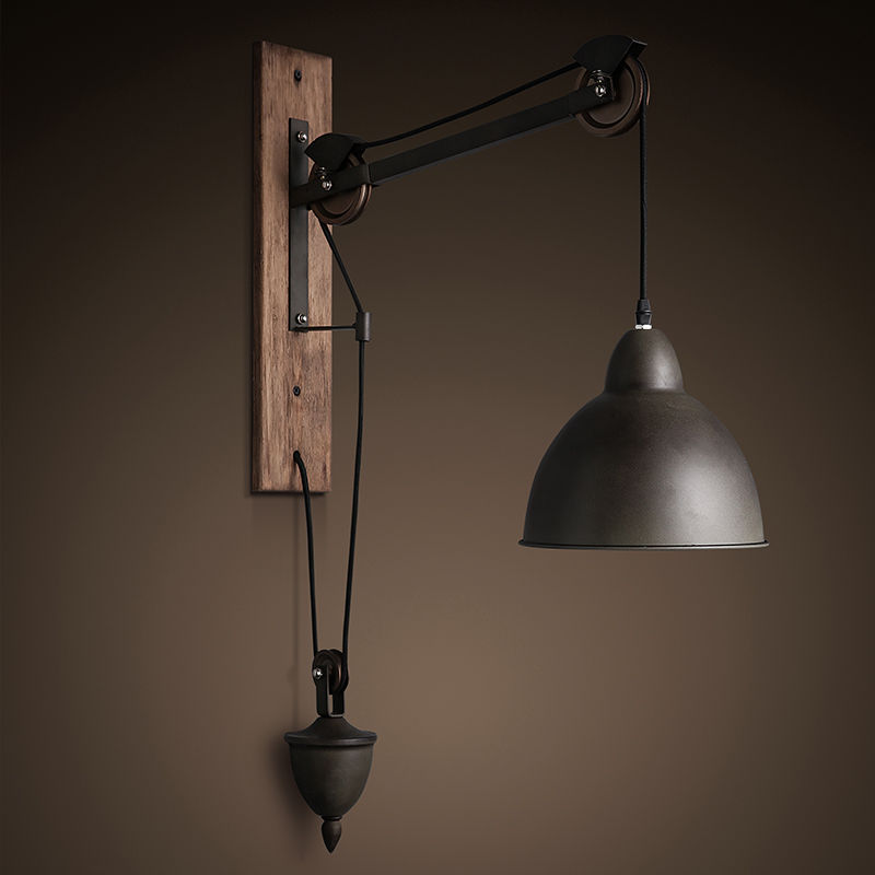 Industrial Tray 1-Light Adjustable Swan-neck Wall Light Shade Indoor