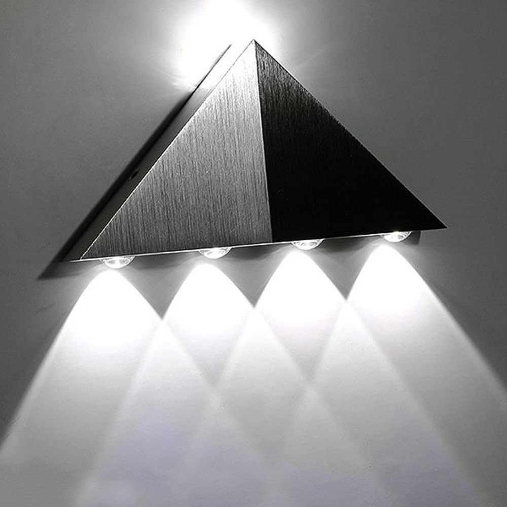 Modern 5W LED Wall Light Up Down Indoor Outdoor Cube Sconce