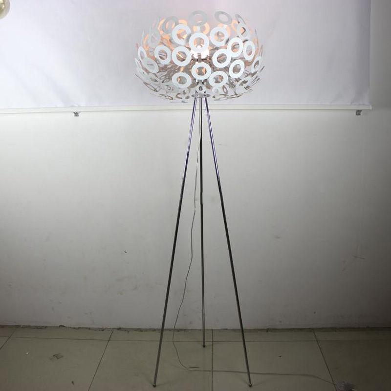 Contemporary Floor Lamp Reading Light Chandelier 55cm White
