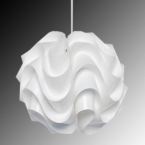 Modern Le Klint White Plastic Shade Suspension Lamp Pendant Light
