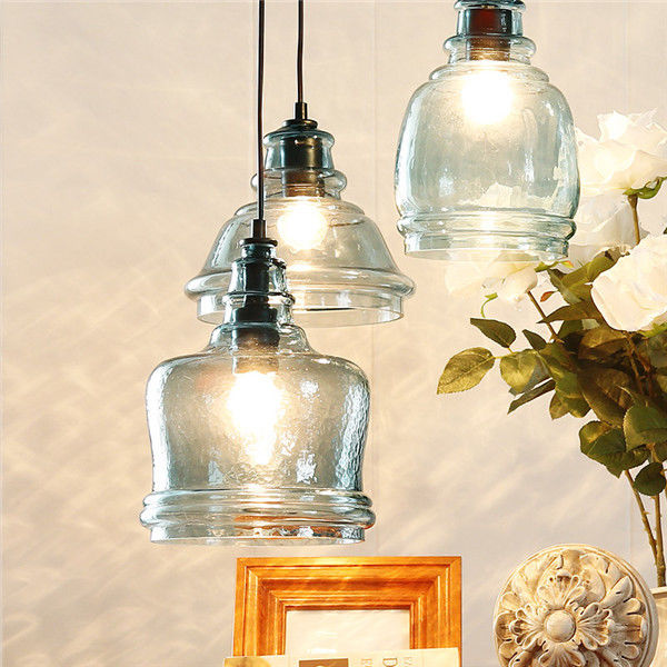Modern Elegant Glass Shade Pendant Lamps Indoor Ceiling Lights Fixture