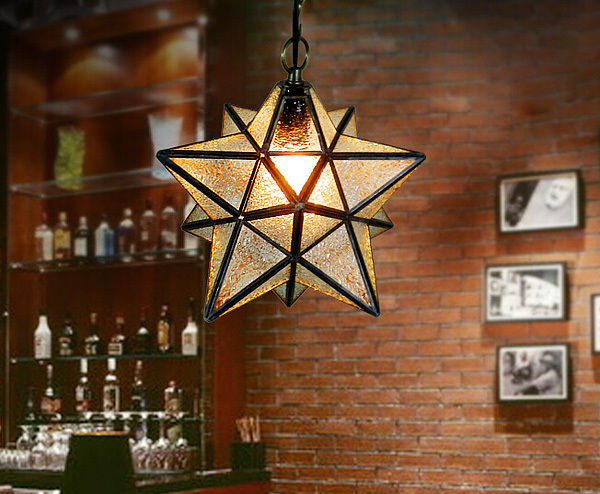 Clear & Frosted Glass DIY Ceiling Lamp Star Pendant Lighting Home Cafe