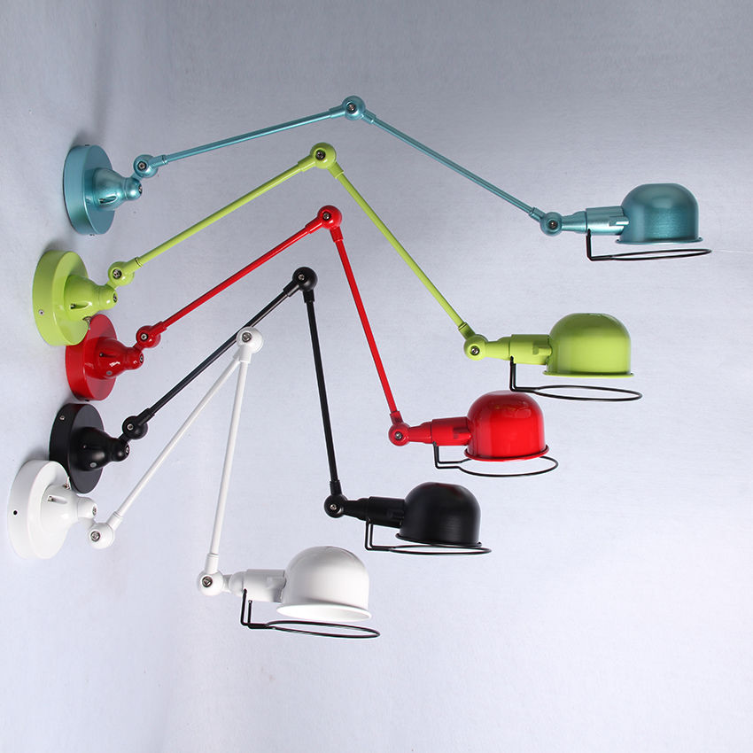 Retro Nostalgia Style Adjustable Iron Lampshade LED Jielde Wall Lamp
