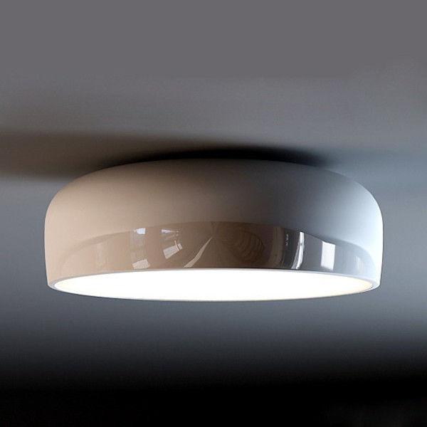Black/White Modern Flos Smithfield C Flush Mount Ceiling Light Fixture