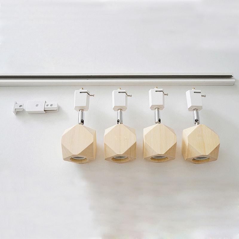 Modern 4-Light Wooden Track Light Kitchen Ceiling Lamp Pendant Lights