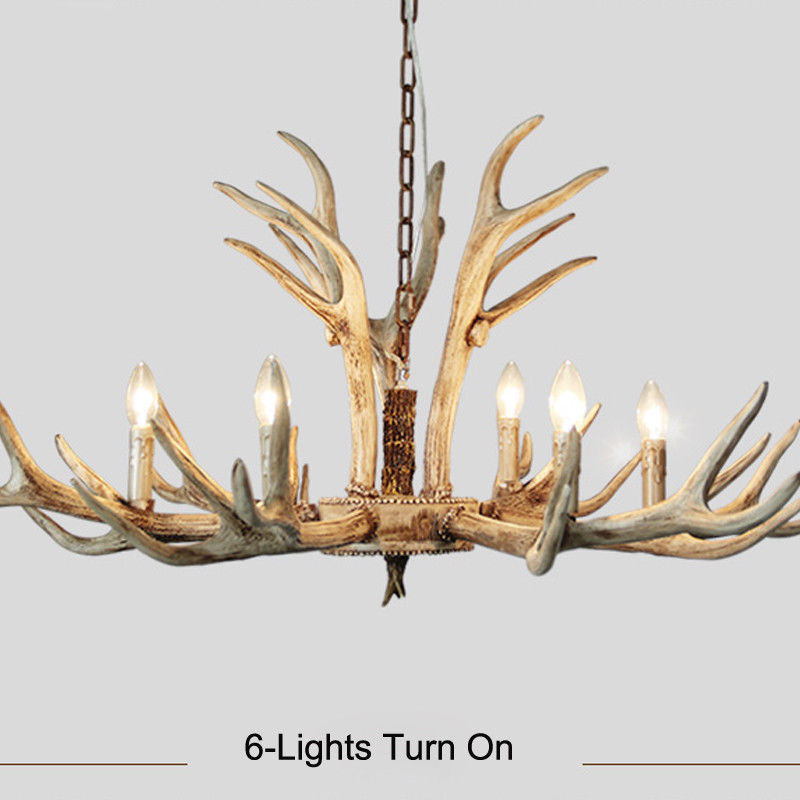 6/8/12-Lights Antler Vintage Chandelier Lighting Vintage Ceiling Pendant Light