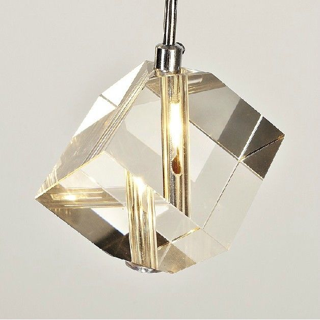 Modern Bar Cubic Crystal Light Pendant Lamp Chandelier Ceiling Light