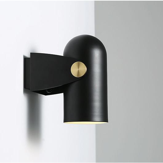 Black Spotlight Minimalist Wall Light