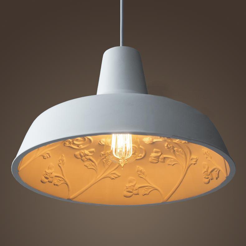 Epernay Garden Concrete Pendant Light. Elegant Design With Resin Cement Cast.