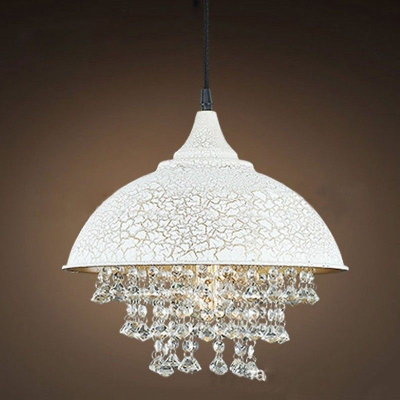 Modern Industrial Loft Pendant Light Lamp Fixture Crystal Hangings