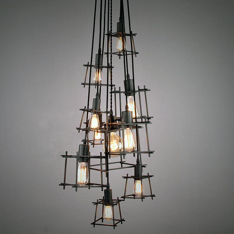 Cube Cluster Pendant Light Chandelier