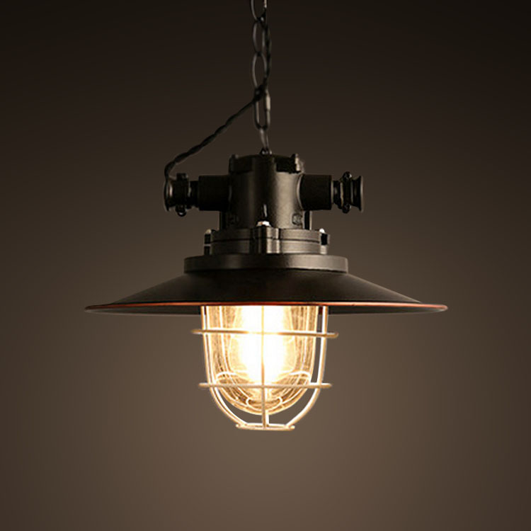 Retro Industrial Edison Iron Pendant Lamp
