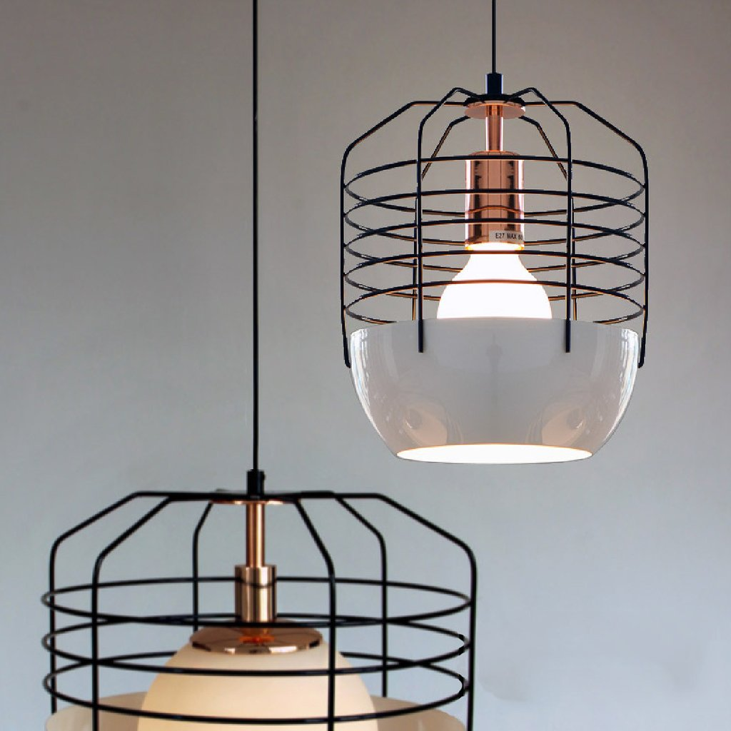 Art Decor Style Cage Pendant Light. Classic Retro Style Ceiling Light.