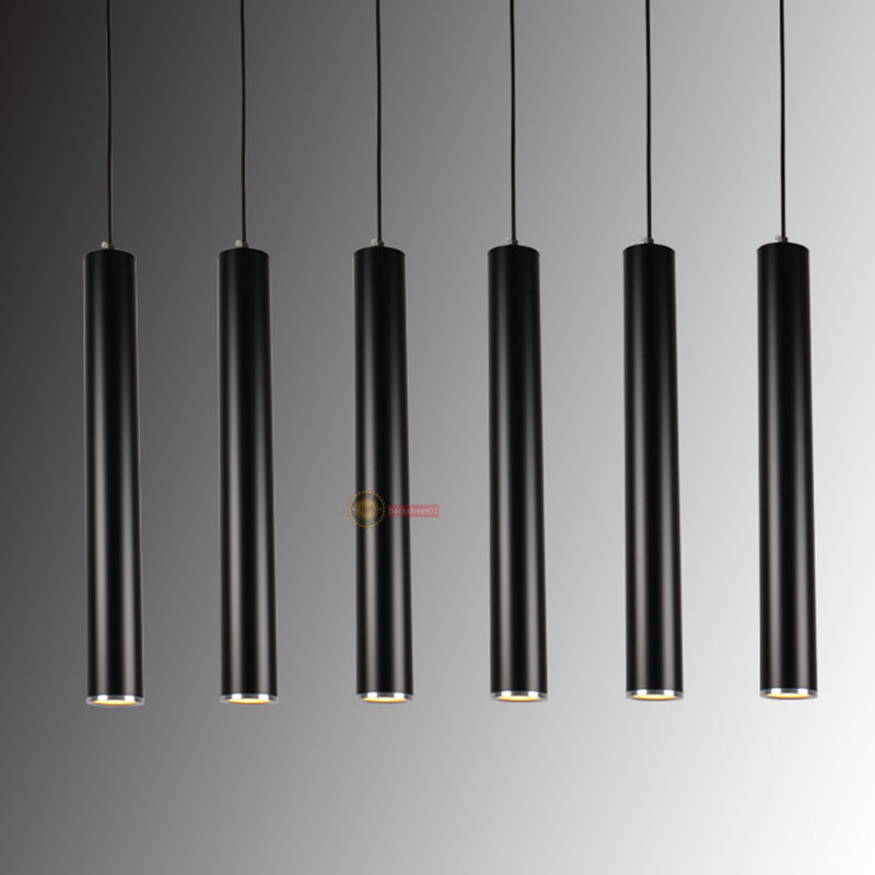Modern 3W LED Cylindrical Pendant Lamp Hanging Chandelier Fixture Light