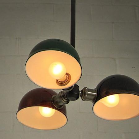 Tri-Cap Art Deco Retro Ceiling Light