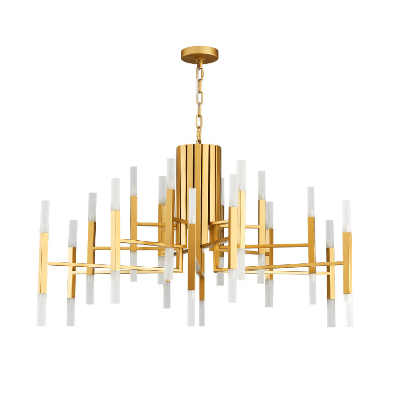 Chandelier Light Acrylic Tube Shade Inspired by Roll&Hill
