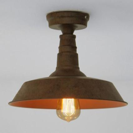 Retro Rustic Industrial Fixed Ceiling Light