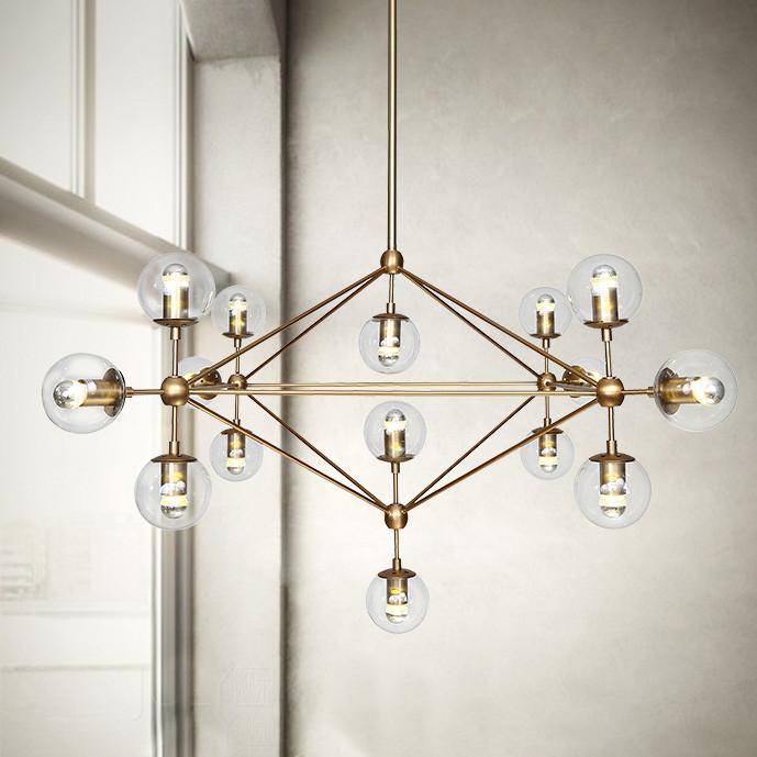 Ritz 15 head cluster chandelier