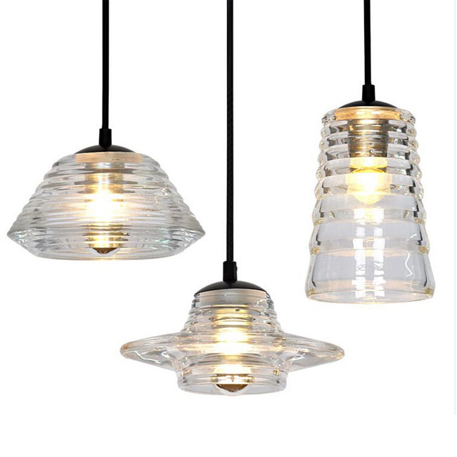 Tom Dixon Pressed Glass Bowl Pendant Lighting