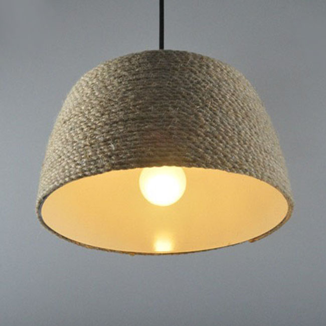 Modern Hemp rope Pendant Lighting