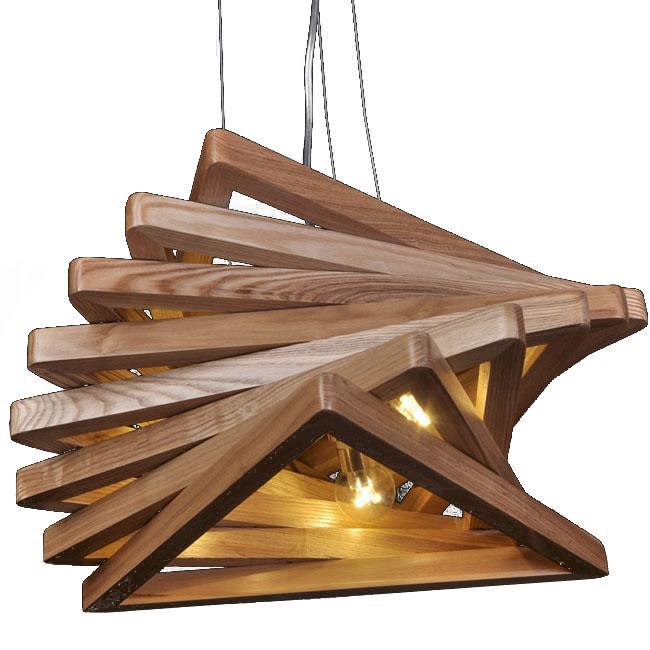 Modern Original Wood Triangles Pendant Lighting