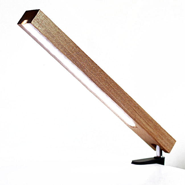 Modern Wood Squared Timber LED Table Lamp