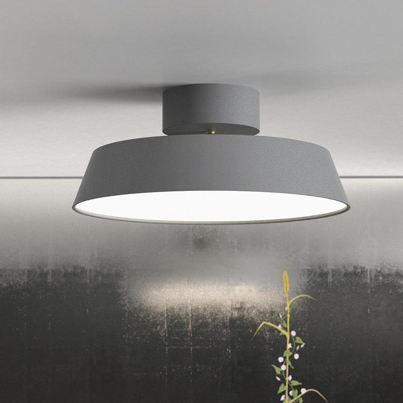 Modern Adjustable Metal and PVC Shade Recessed Lighting