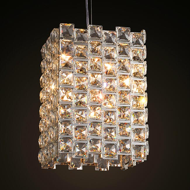 Modern PHX Crystal Pendant Lighting in Chrome Finish