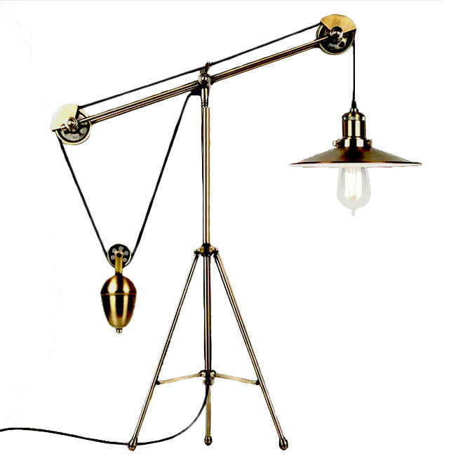 Industrial Tripod Copper Adjustable Table Lamp