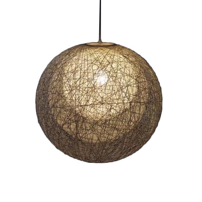 Modern Handmade 3 Layers of  Rattan Ball Pendant Lighting