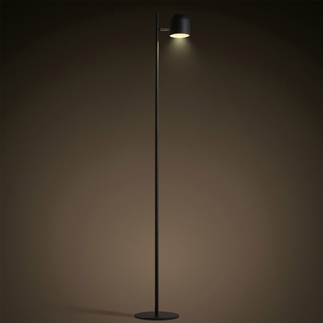 North Iron Long Arm LED Floor Lamp in Baking Finish