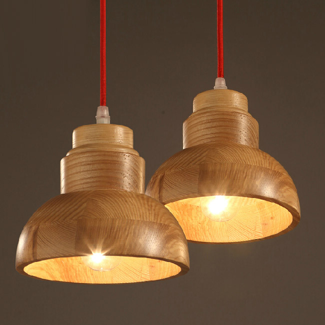 Country Wood Art Shade Pendant Lighting