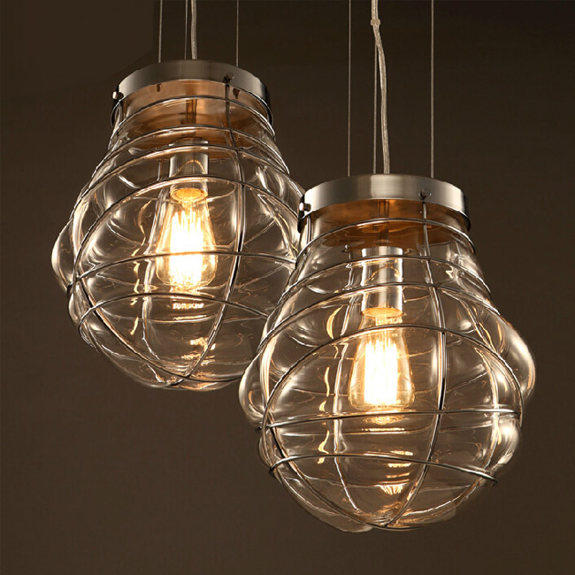 North Blown Glass Art Pendant Lighting