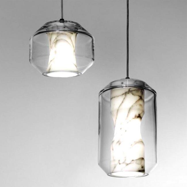 Modern Marble and Glass Pendant Lighting