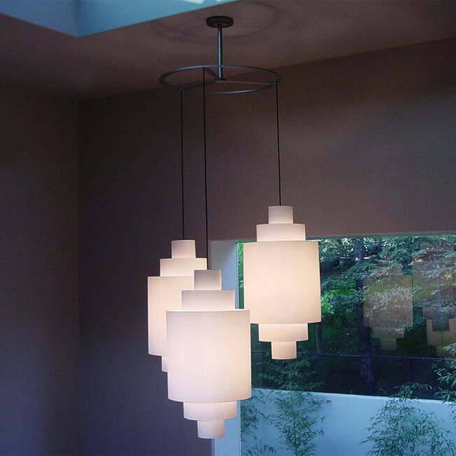 3 Flax Shades Country Pendant Lighting