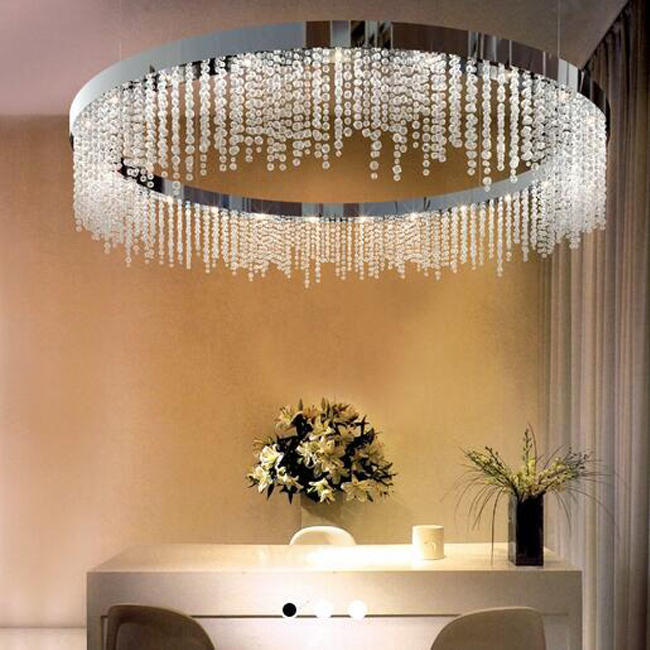 Alba Round Crytal Pendant Lighting