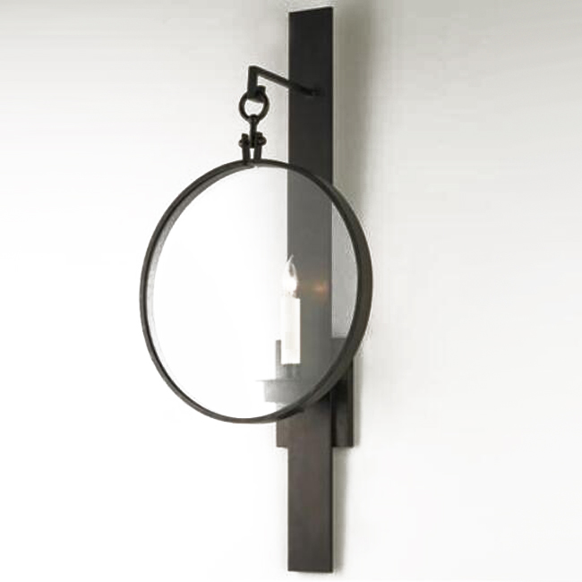 Rod and Hoop Rustic Iron Sconce