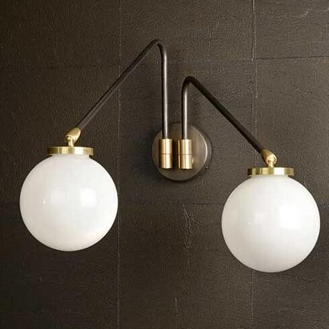 Array Twin Opal Wall Sconce