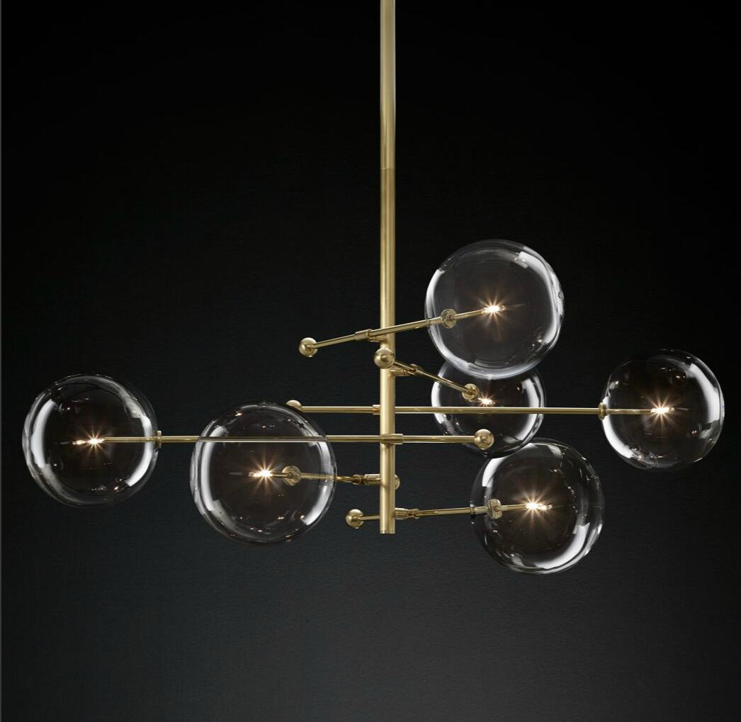 Blown Glass Globe Balance Chandelier