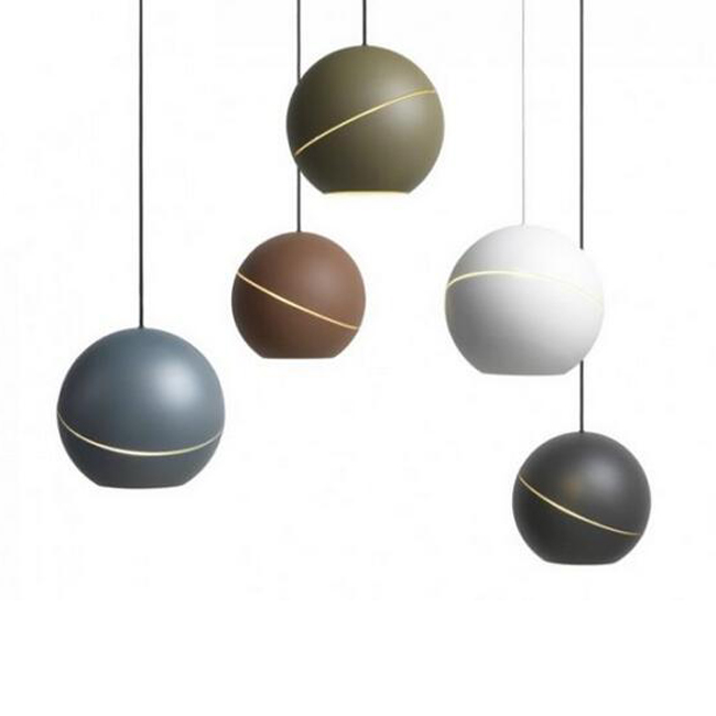 Frederik Roijé's Sliced Sphere Pendant Lighting