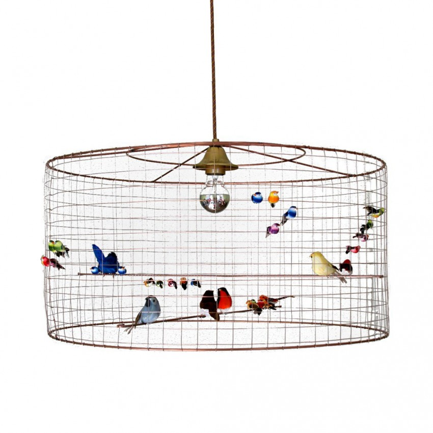 Golden Bird Cage Pendant Lighting Large