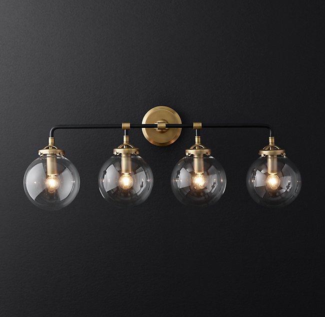 Bistro Globe Bath Sconce 4-Light Wall Sconc