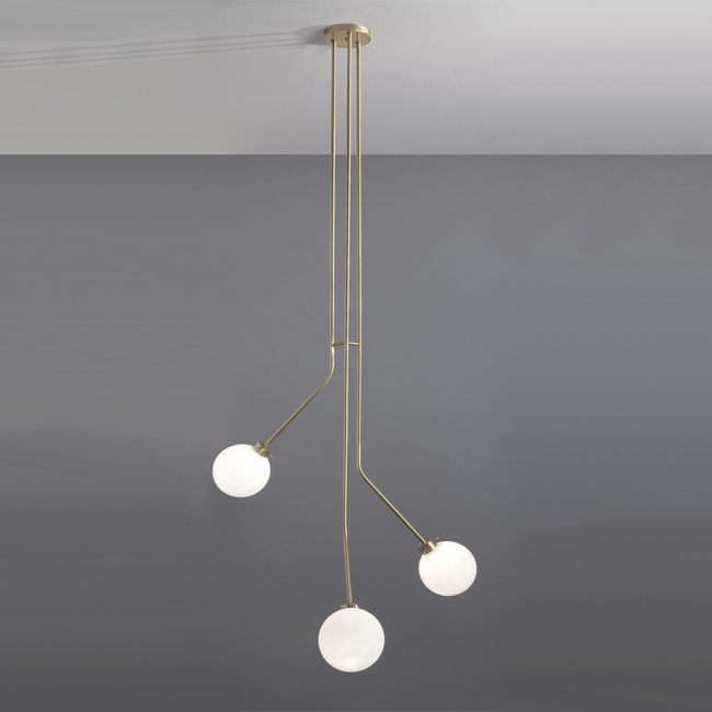 3 Orbs Brass Pendant Lighting