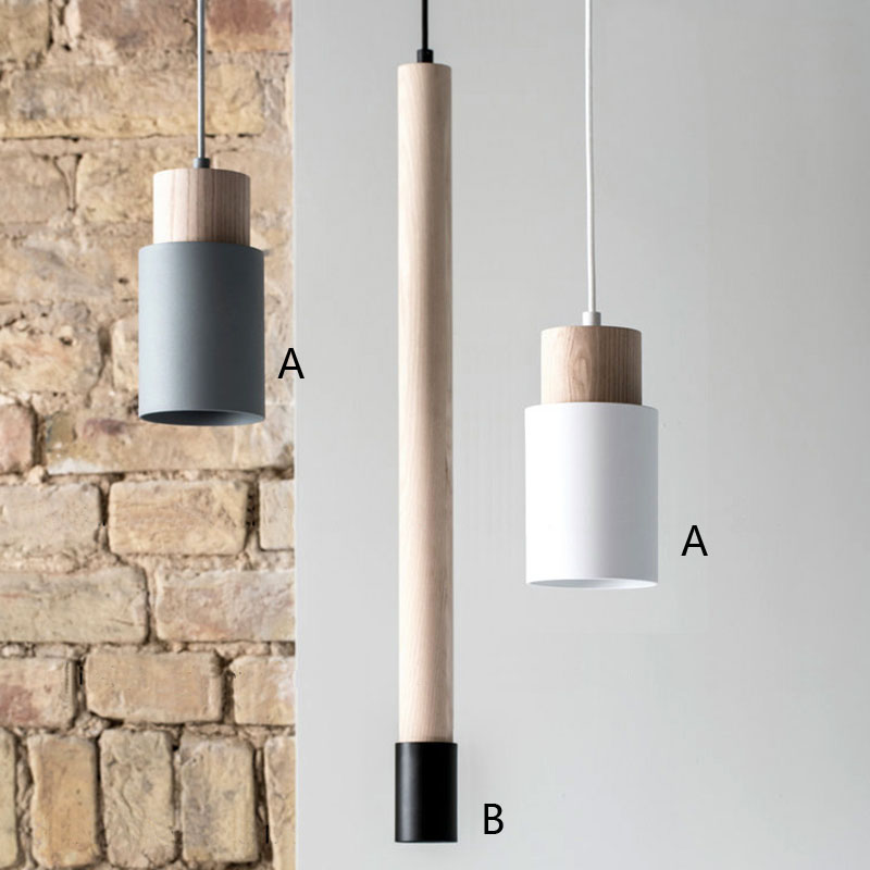 SO5 Natural Wood Pendant Lighting