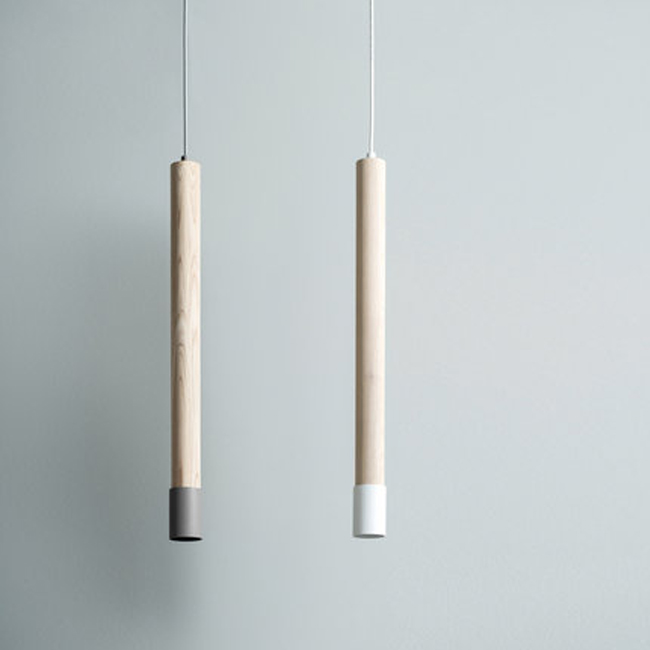 SO6 Natural Tone Wood Pendant Light