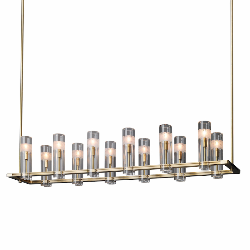 CHAMONT DOUBLE LINEAR CHANDELIER