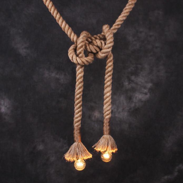 Hemp / Hessian Nautical Rope Pendant Light