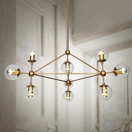 Ritz 10 head cluster chandelier